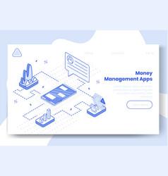 digital isometric design concept set money vector image