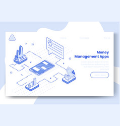 digital isometric design concept set of money vector image