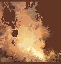 Drawn fire blast vector