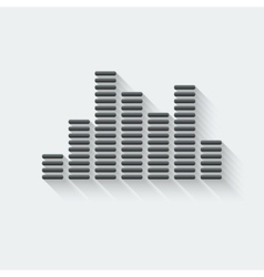 equalizer music element vector image