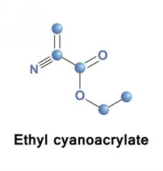 Ethyl cyanoacrylate ECA vector image