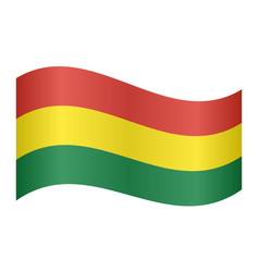 flag of bolivia waving on white background vector image