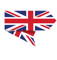 flag of the united kingdom on a label vector image