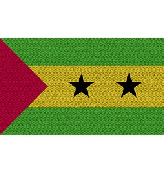 Flags Sao Tome Principe on denim texture vector image