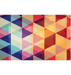 Flat geometric triangle wallpaper for you design vector