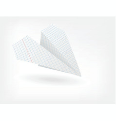 folded paper plane vector image