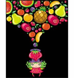 fruity girl vector image