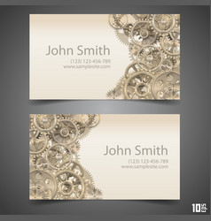 Gears business card vector