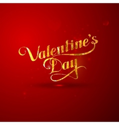 golden foil St Valentines Day vector image