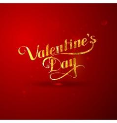 Golden foil St Valentines Day vector