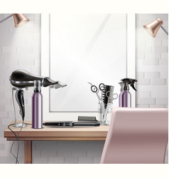 Hairdress tools composition vector