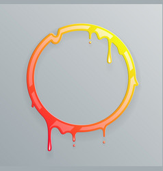 Hot colors melting frame 3d flowing art flux vector