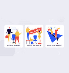 hr agency hiring staff banner template vector image