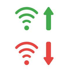 Icon set wireless wifi symbols with arrow vector
