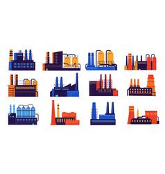 Industry building urban factory construction vector