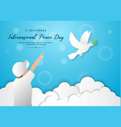 International peace day template design for banner vector