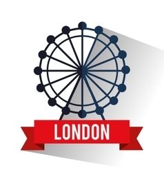 Isolated london eye design vector