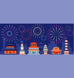 Japanese festival firework japan festive vector