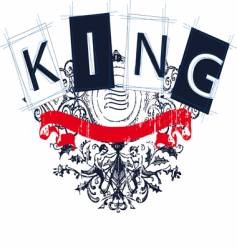 King crest vector