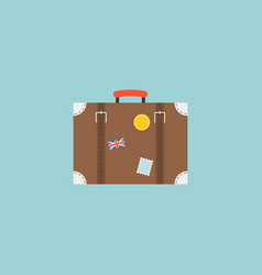 luggage with tag travel concept vector image