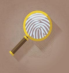 Magnifying Glass and Fingerprint vector