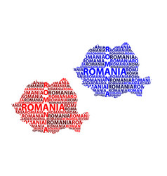 Map of romania vector