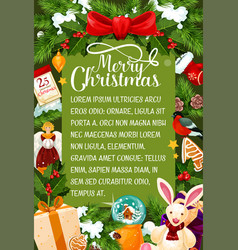 Merry christmas wishes greeting card vector