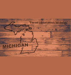 Michigan map brand vector