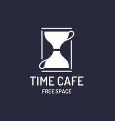 modern minimalistic logo for a time cafe and free vector image