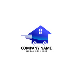 moving house logo vector image