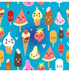 Multicolored pattern funny ice cream vector