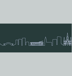 new orleans single line skyline vector image