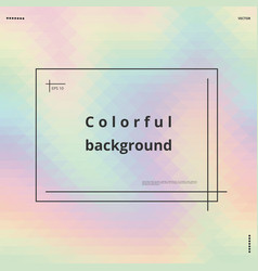 pastel holographic background vector image