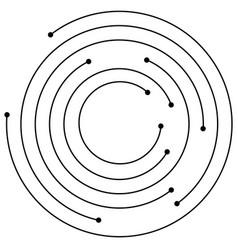 Random concentric circles with dots circular vector