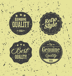 retro grunge badges vector image