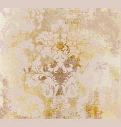 rococo pattern texture damask ornament vector image