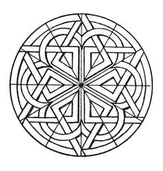 Romanesque circular panel is found on the portal vector