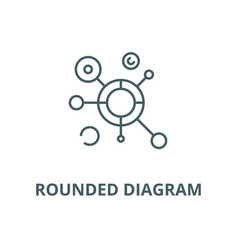 rounded diagram line icon linear concept vector image