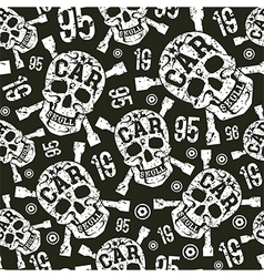 Seamless pattern with image of skull vector image