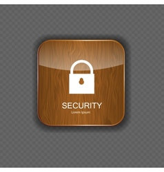 Security wood application icons vector image