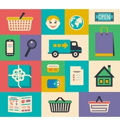 Set of e-commerce interface elements vector