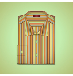Shirt in colorful stripes vector