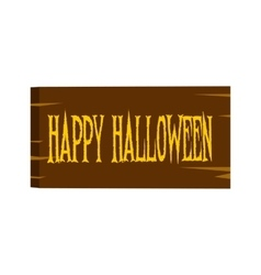 Signboard happy halloween icon vector
