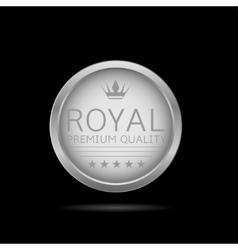 Silver Royal label vector