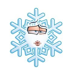 SnowFlake Emoticon Smooch vector image vector image