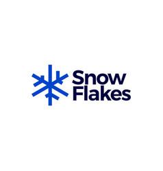 snowflakes logo icon vector image