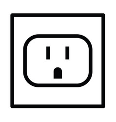 Socket electric wall icon vector