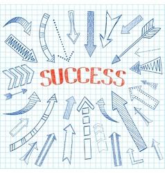 Success arrows icon sketch vector image