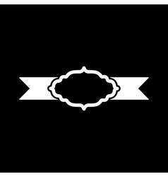The label icon Ribbon symbol Flat vector