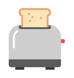 Toast popping toaster bread breakfast food kitchen vector image